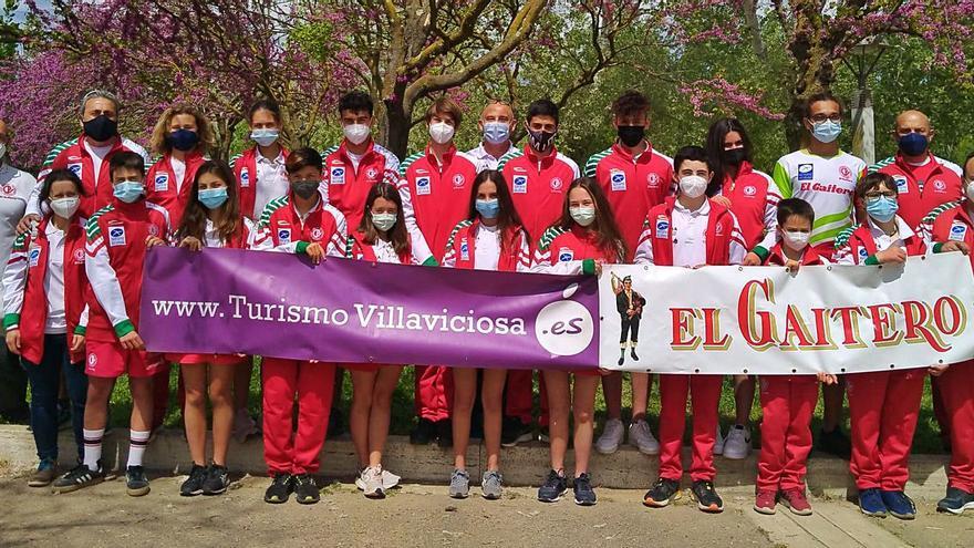 El Club Piraguas Villaviciosa, segundo entre los asturianos en el Nacional de Bañolas