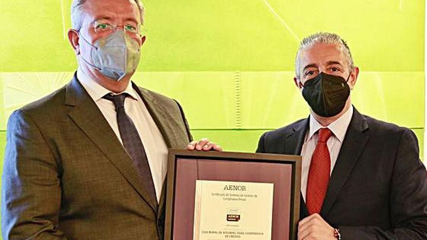 Certificación de Aenor a Caja Rural de Asturias