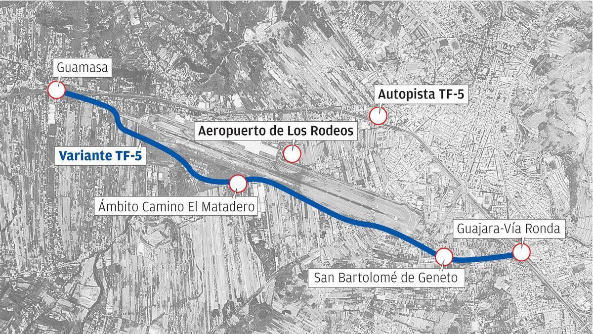 La Variante de la TF-5 o Circunvalación de La Laguna es la solución elegida por el Gobierno de Canarias y Cabildo para descongestionar la autopista TF-5.