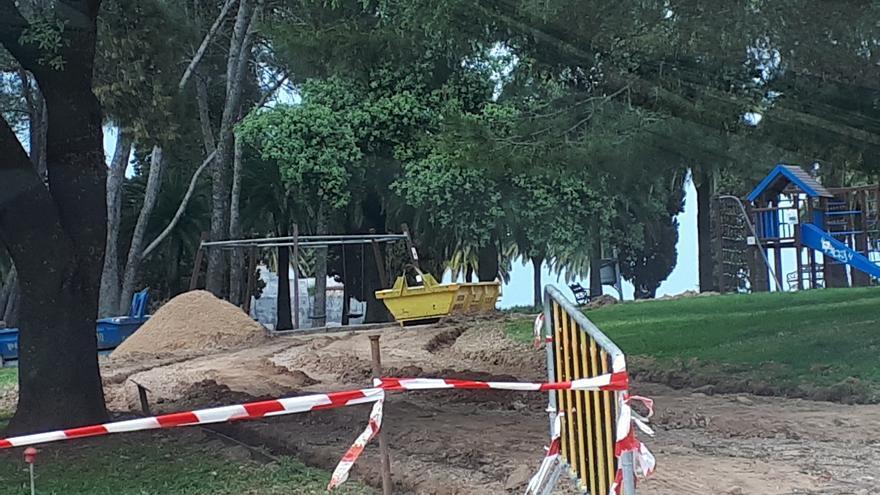 Comienza la obra para mejorar la accesibilidad del parque de la Alcazaba