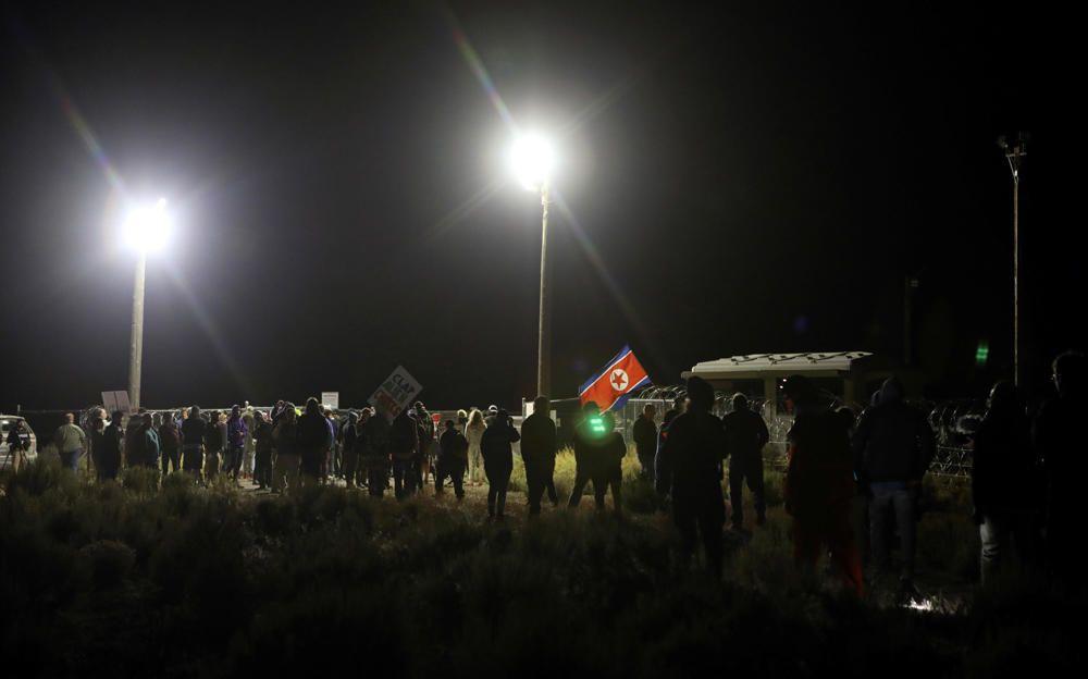 Decenas de personas se concentran cerca del ''Área 51'' en Nevada (EEUU).