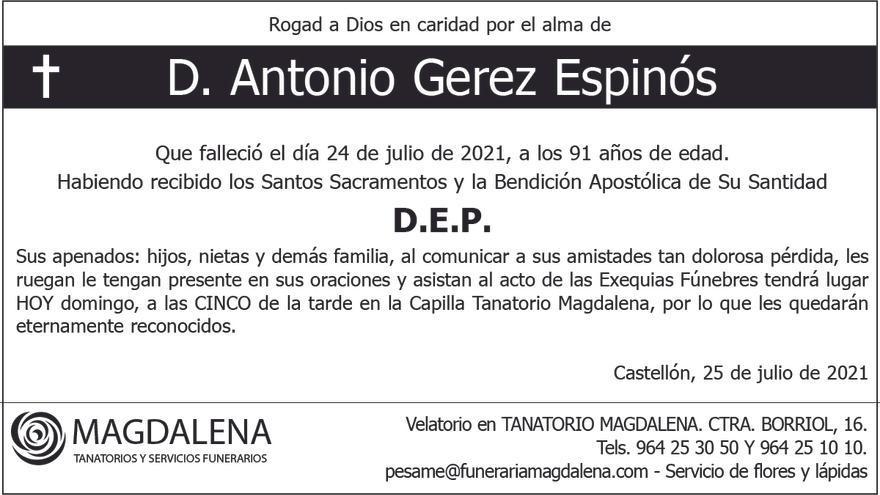 D. Antonio Gerez Espinós