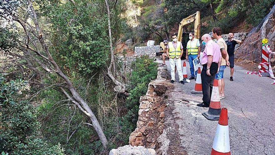 Reconstrucción del muro de  la carretera del Port de Valldemossa