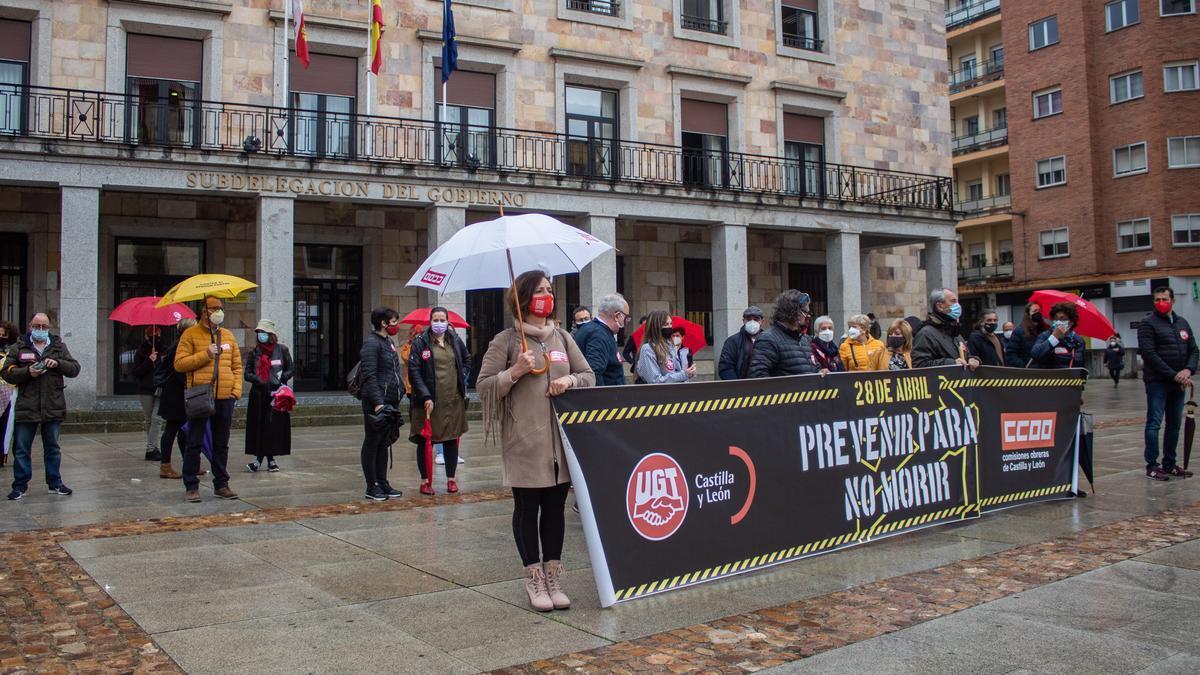 Movilización para exigir seguridad laboral en Zamora.