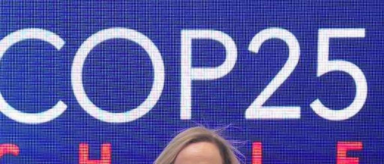 Rebeca Farpón, durante su charla en la Cumbre del Clima.