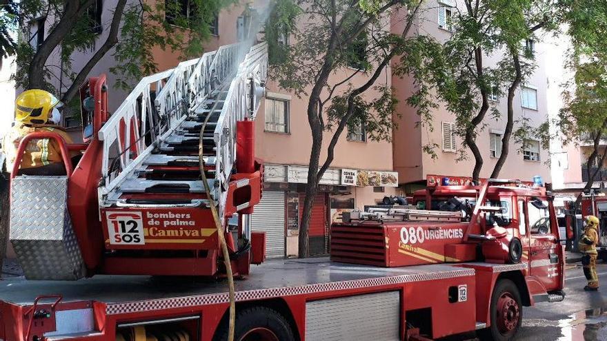 Las fuertes rachas de viento provocan decenas de incidentes en Mallorca