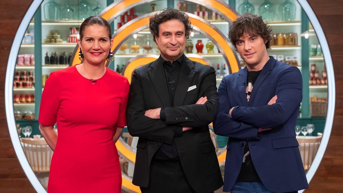 Samantha Vallejo-Nágera, Pepe Rodríguez y Jordi Cruz, jurado de 'Masterchef'