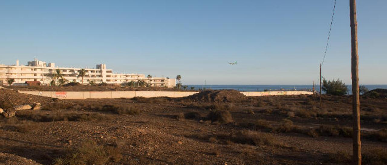 Zona donde se construirá el nuevo hotel en Matagorda, en Puerto del Carmen (Tías).