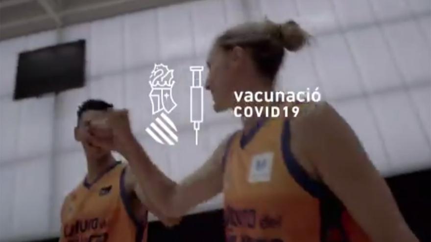 El spot de apoyo del deporte valenciano a la vacunación