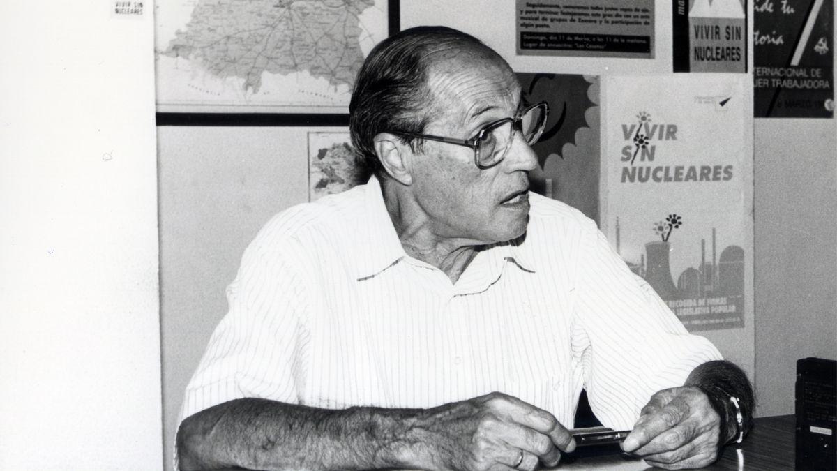 Amable García, durante una entrevista en 1991