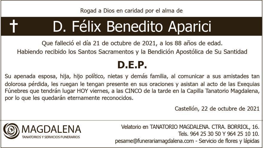 D. Félix Benedito Aparici