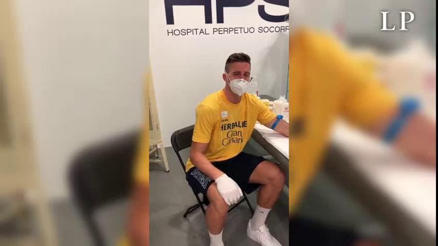 Desescalada en Canarias | Los jugadores del Herbalife Gran Canaria en los tests para detectar el coronavirus