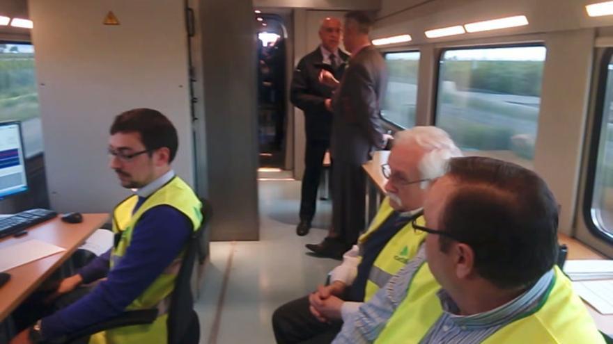 Tren laboratorio Adif pruebas corredor mediterráneo