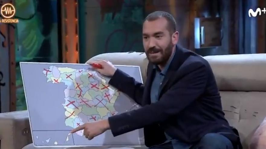 La 'faltada' de Jorge Ponce a Canarias en 'La Resistencia'