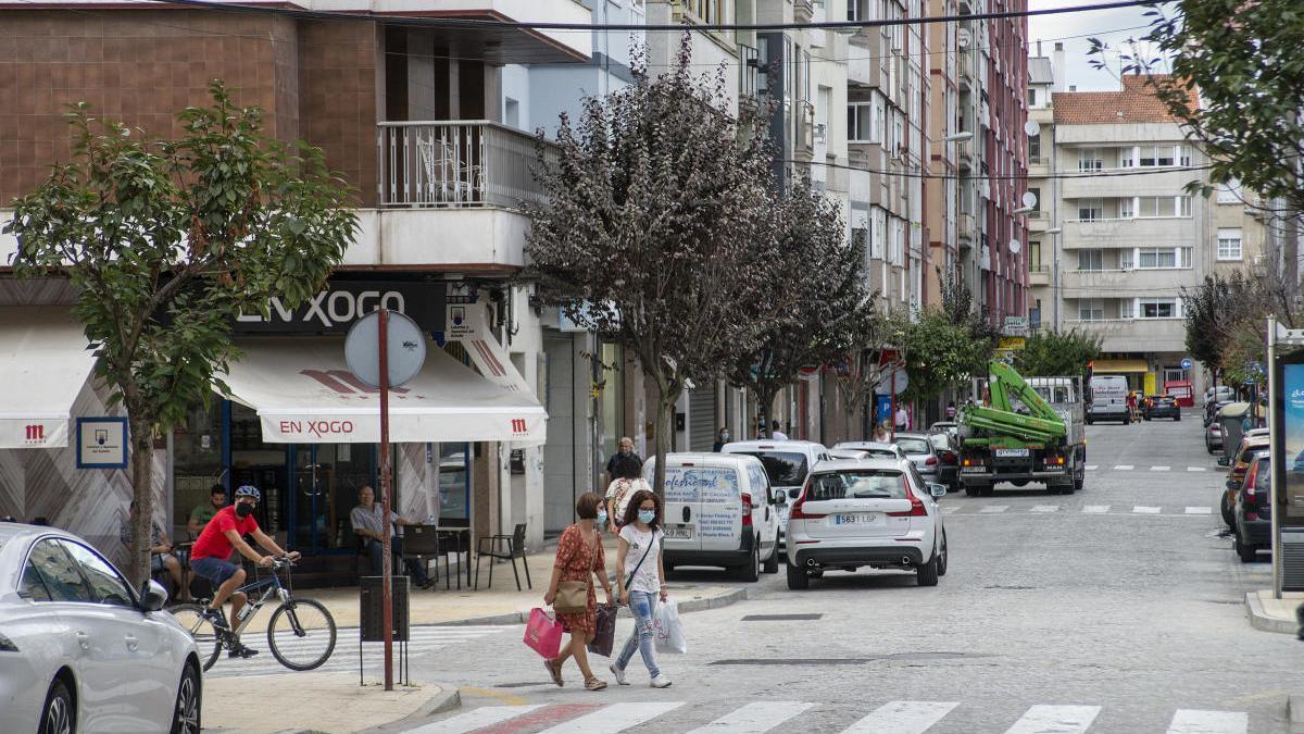 La calle Doctor Fleming, una de las zonas de Ourense en donde se aplican medidas más restrictivas. // Carlos Peteiro
