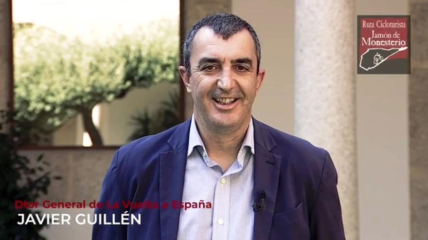 El Director General de La Vuelta se suma a la promoción de la ruta ciclo turista Jamón de Monesterio