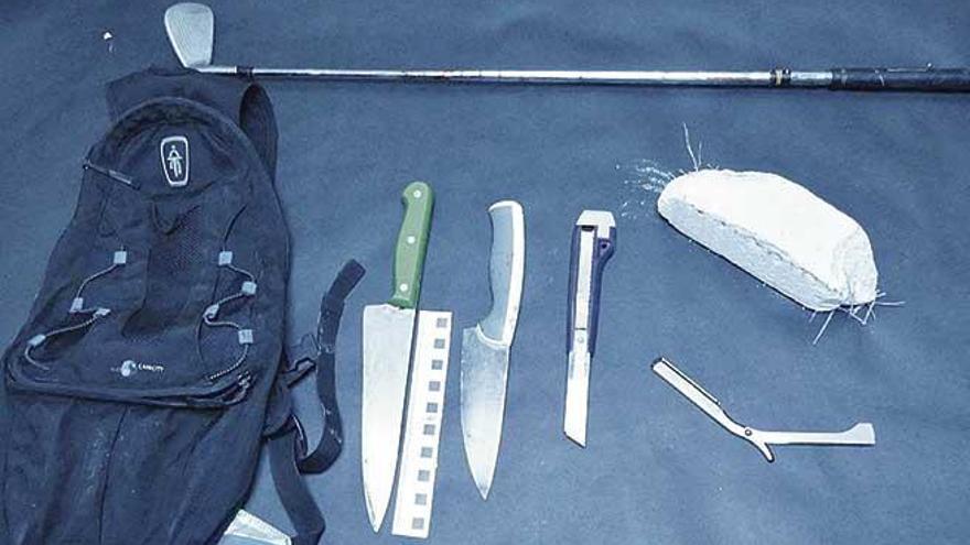 Batalla campal con machetes, cuchillos, navajas y palos de golf en Pere Garau
