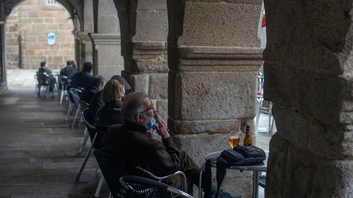 Una terraza de un bar en galicia.