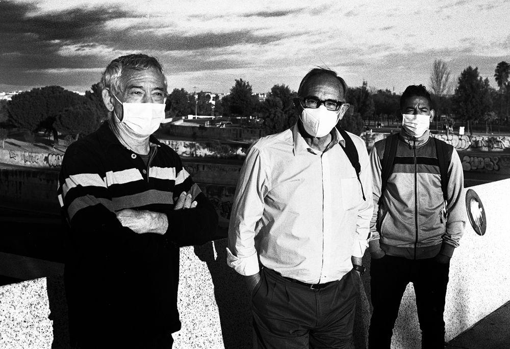 Francisco, Ramiro y Abdelhamid