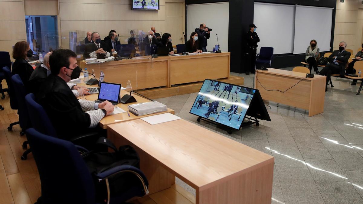 Un momento del juicio de la caja b del PP, con Bárcenas en el banquillo
