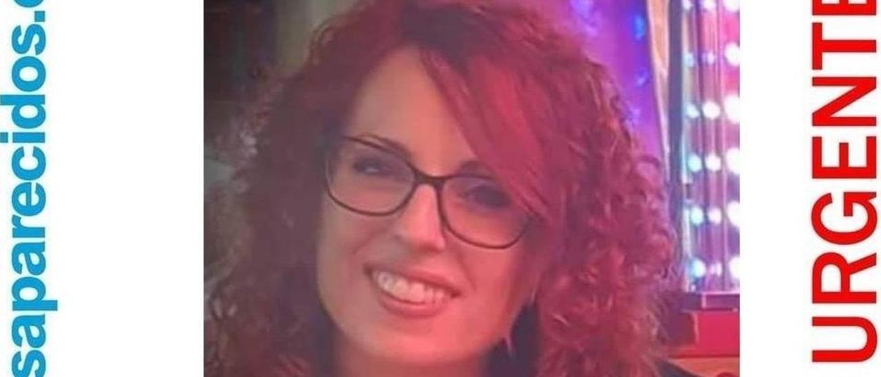 Cartel de la desaparición de Elisabet Ramos