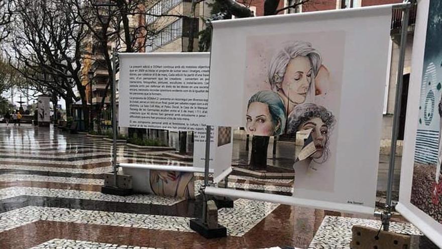 Carteles de la exposición feminista de Gandia, atacados