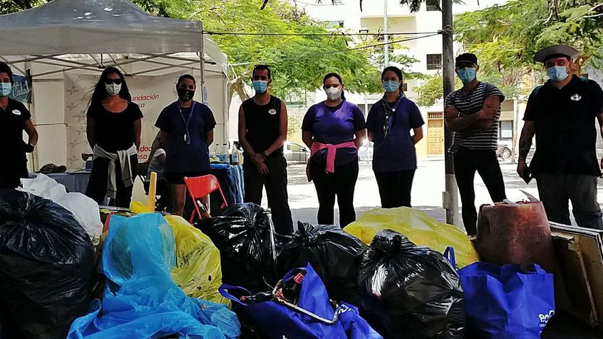 Promemar retira 222 kilos de basura del barranco del Bufadero
