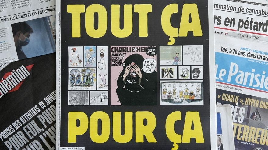 Al Qaeda amenaza de nuevo a 'Charlie Hebdo' por publicar caricaturas de Mahoma