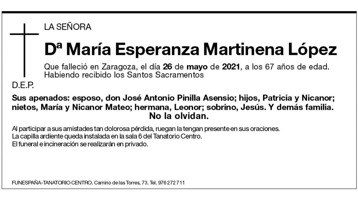 María Esperanza Martinena López