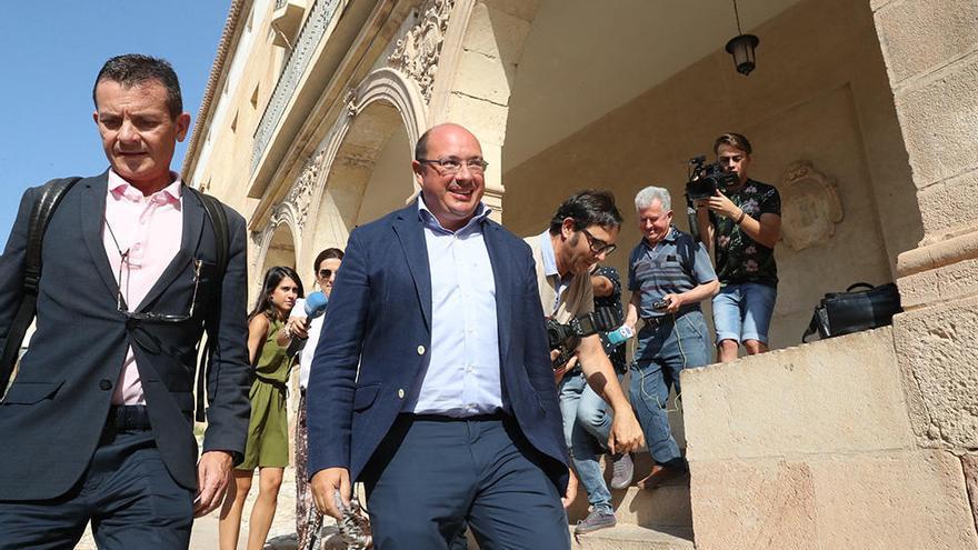 Pedro Antonio Sánchez comparece por fin en los juzgados de Lorca
