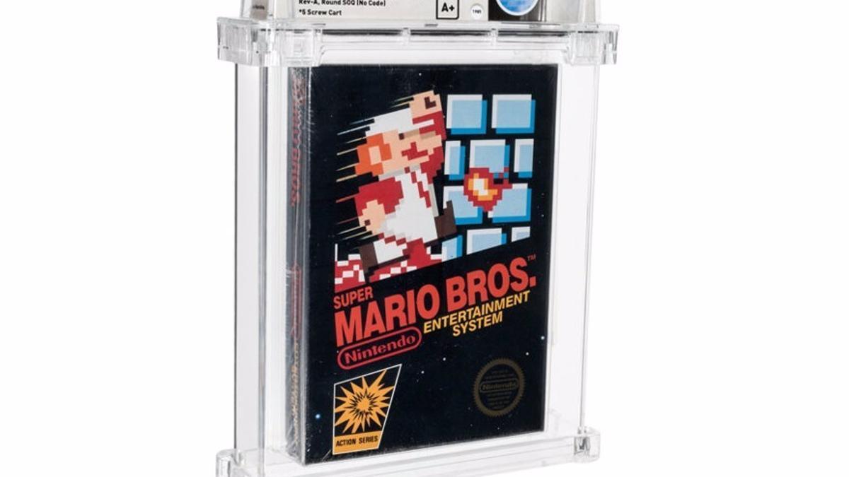 La versión rara de 1985 del Super Mario Bros.