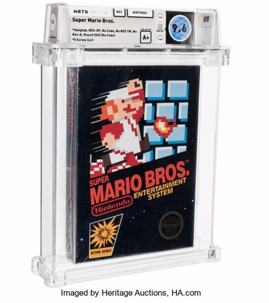 Una copia rara de Super Mario Bros. se convierte en el juego más caro de la historia al subastarse por 660.000 dólares