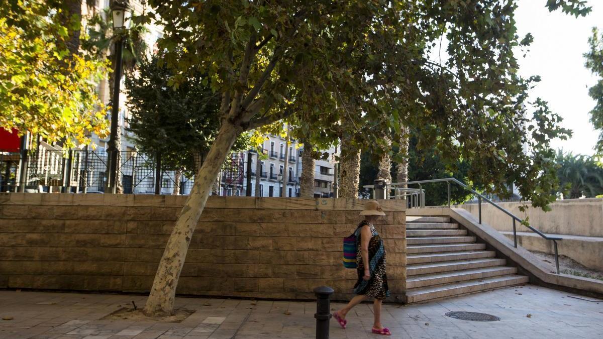Zona de la plaza Paseíto Ramiro.