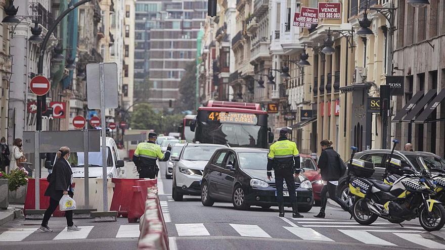 Hasta 205 conductores han sido multados por las obras del centro