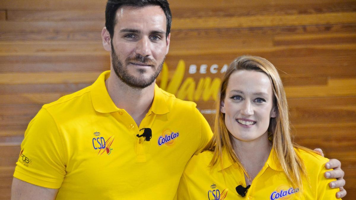 Saúl Craviotto and Mireia Belmonte