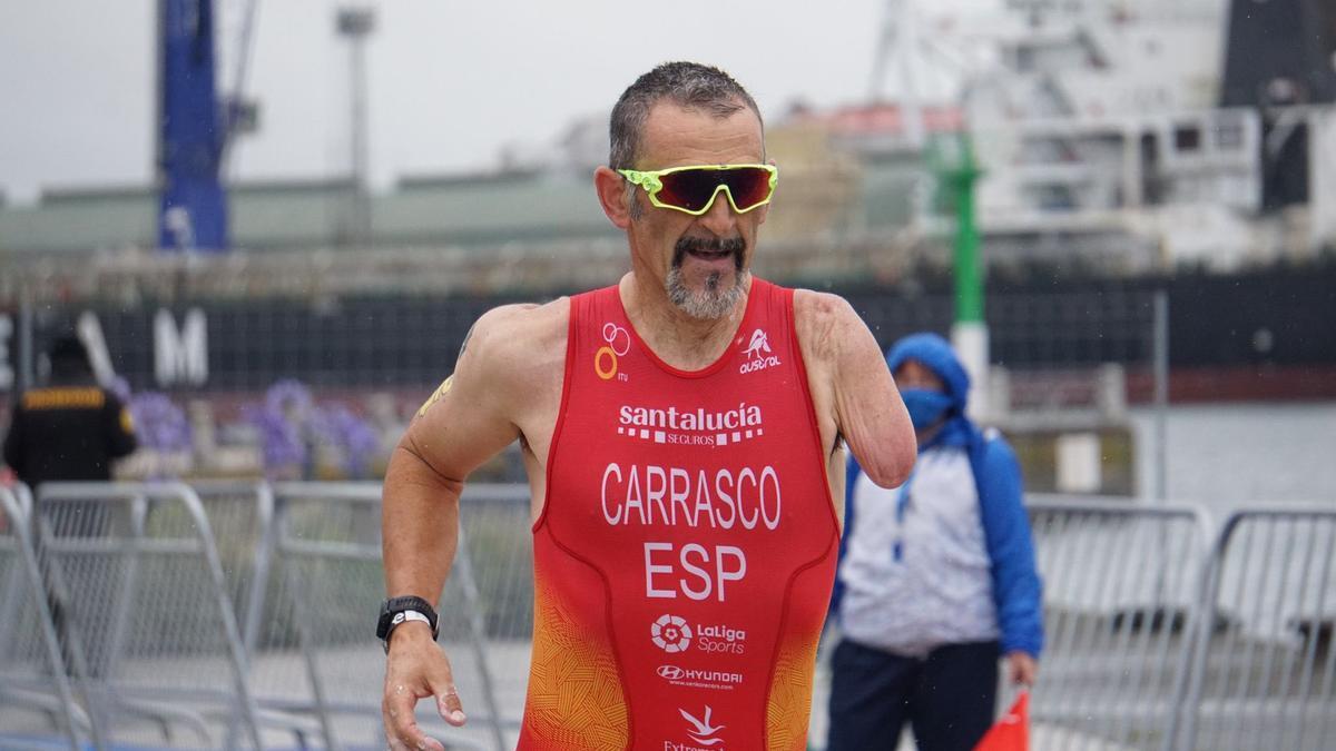 El paratriatleta cacereño Quini Carrasco.