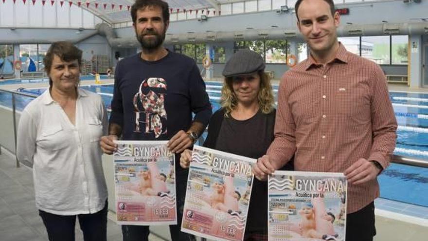 «Gyncana acuática» en Sagunt a favor del deporte inclusivo