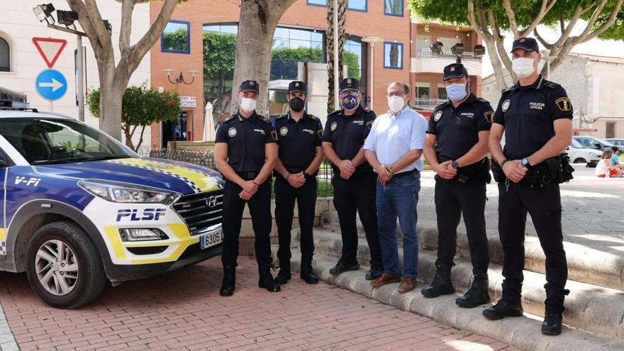 San Fulgencio incrementa la plantilla de la Policía Local hasta los 29 agentes