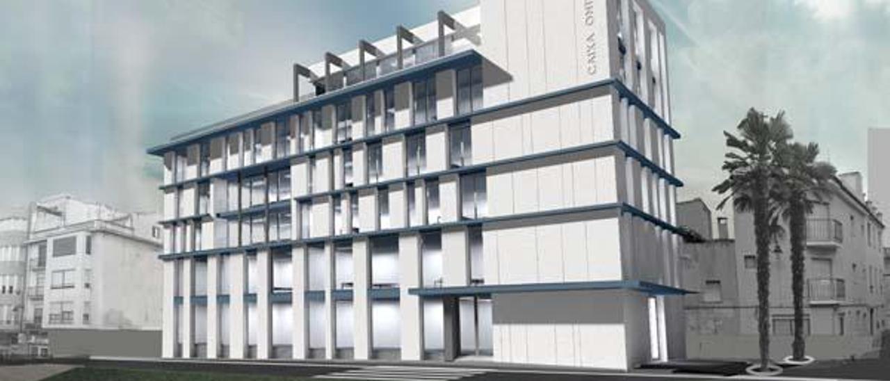 Caixa Ontinyent decide entre cuatro empresas locales para la rehabilitación de su sede