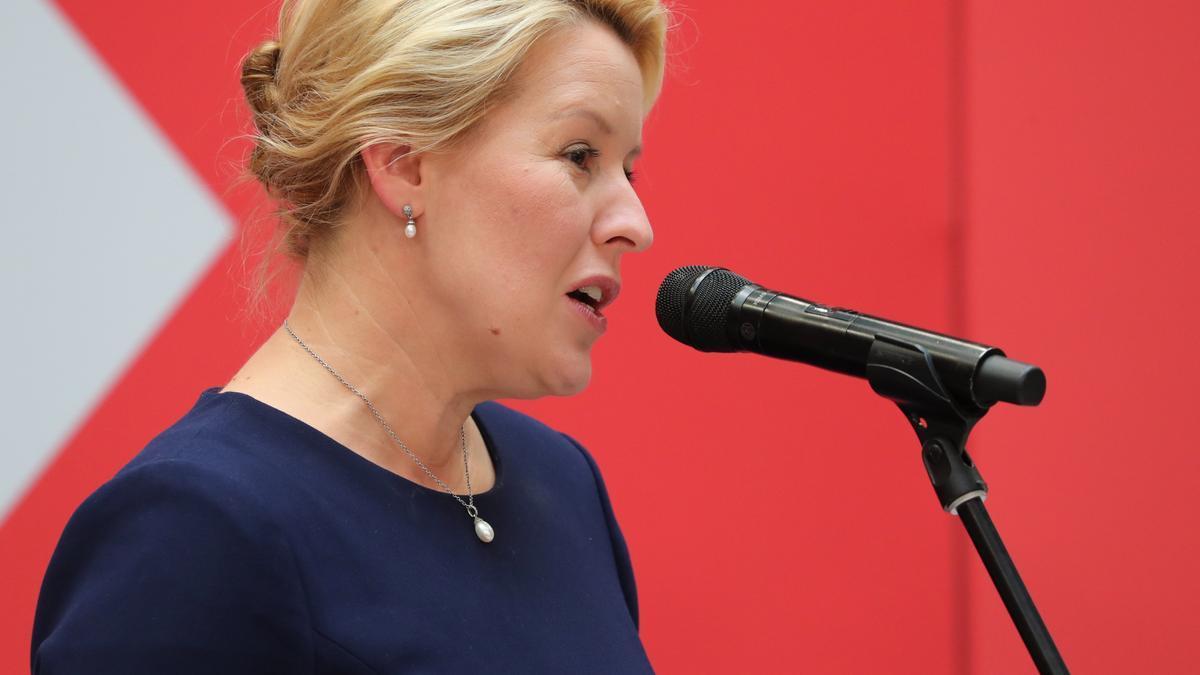 La nueva alcaldesa de Berlín,  Franziska Giffey.