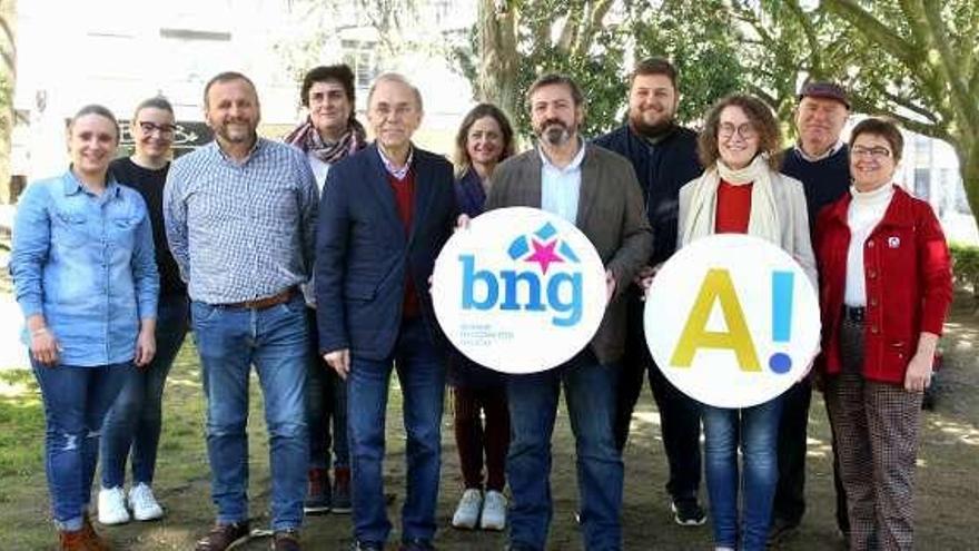 Luís Bará presenta en el Condado la candidatura del BNG
