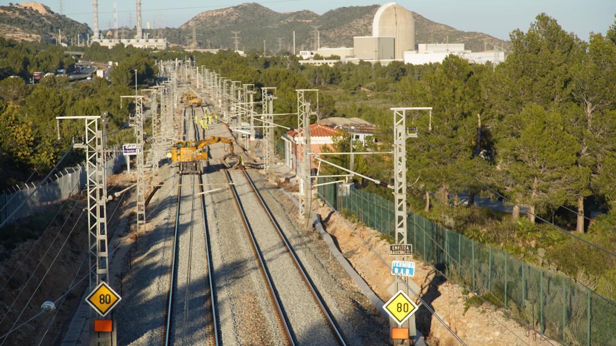 Obras del corredor mediterráneo en la variante de Vandellós