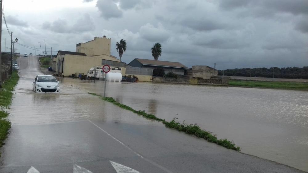 Überschwemmung Mallorca Januar 2017