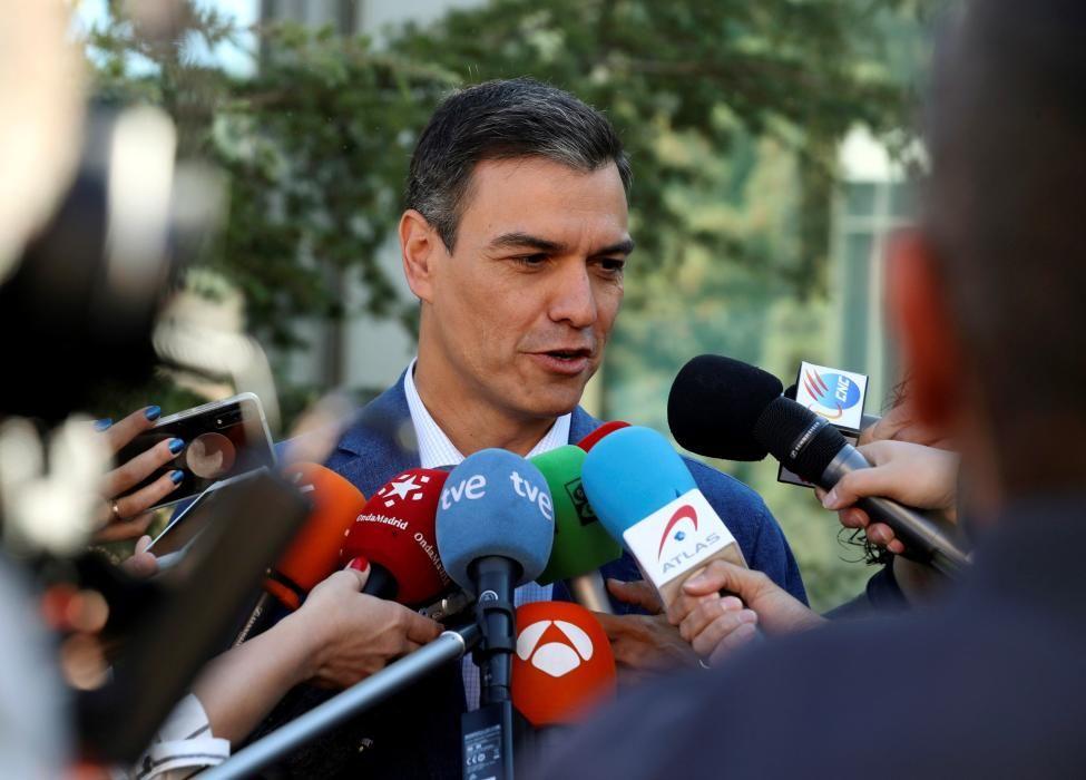 Pedro Sánchez vota en Pozuelo