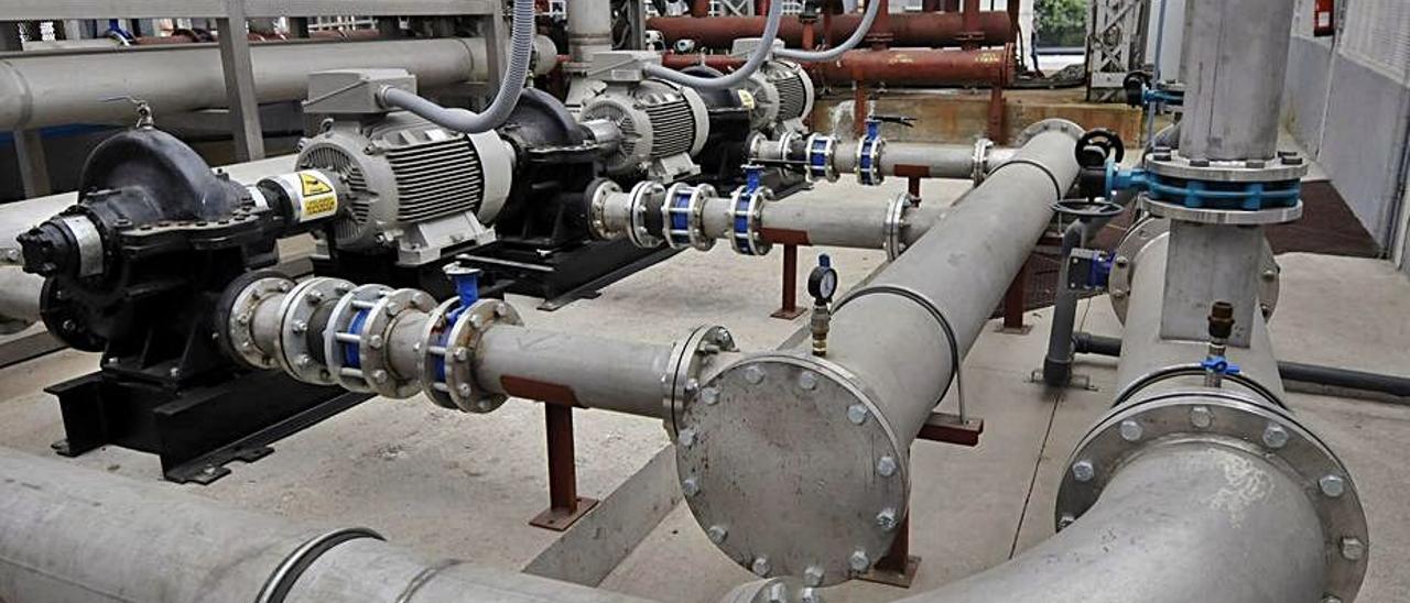Las instalaciones de geotermia del pozo Barredo.