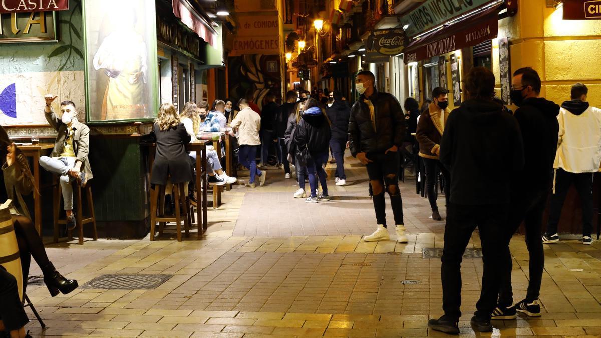 Una zona del centro de Zaragoza con poca afluencia noctura.