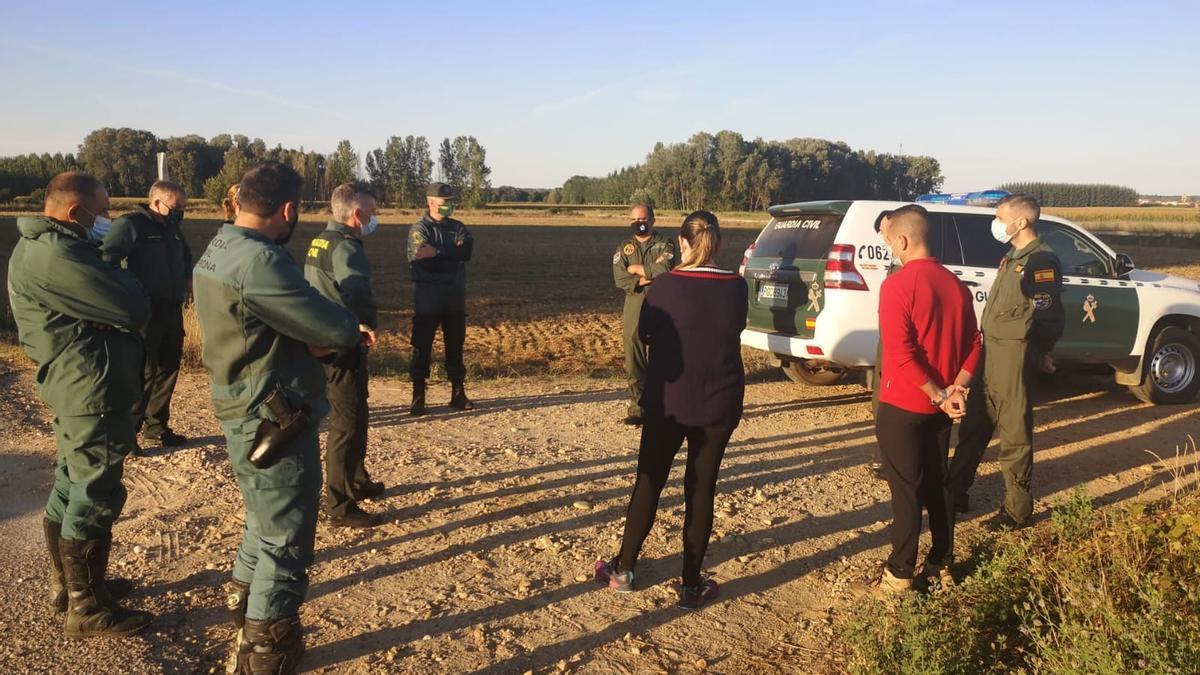 Amplio despliegue en la búsqueda del desaparecido en Aguilar de Tera, Zamora.
