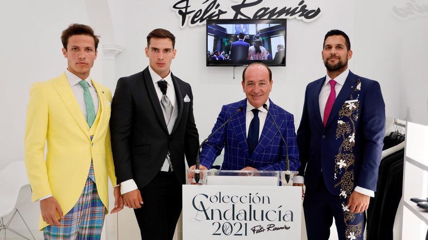El diseñador Félix Ramiro presenta en exclusiva tres trajes inspirados en Málaga para la Pasarela Larios