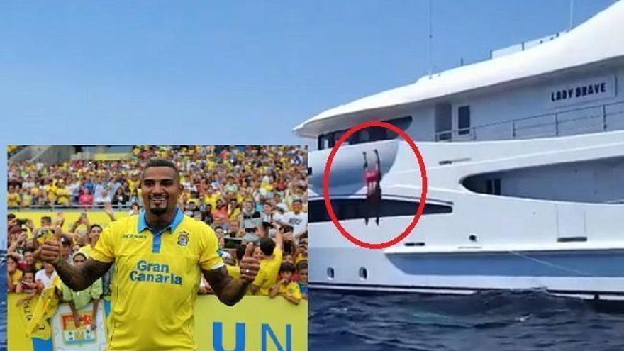 Boateng se marca un 'balconing' marítimo