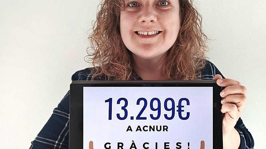 La cadaquesenca Nora Vehí ha recaptat més de 13.000 euros per als infants refugiats